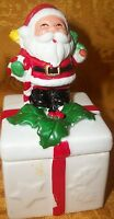 "Collectible Ceramic ""Santa"" Candle Holder- 4.5""H x 2"" X 2"""