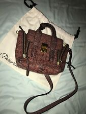 Authentic 3.1 phillip lim pashli mini crossbody satchel Leather Bag brown/multi