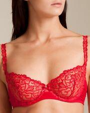NWT Simone Perele FOLIES Bra, sz 34D Red