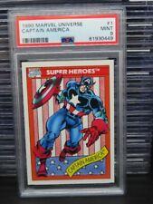 1990 Marvels Universe Captain America Super Heroes #1 PSA 9 MINT (49) Q162