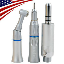 Dental Slow Low Speed Handpiece Straight Contra Angle Air Motor 2 Hole
