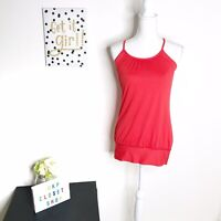 Lululemon No Limit Tank Top Bra Red Size 6 Yoga Workout Gym Sports Athletic