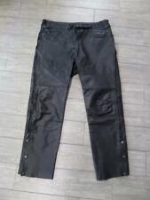vintage JOE ROCKET motorcycle LEATHER pants 40x34 black long
