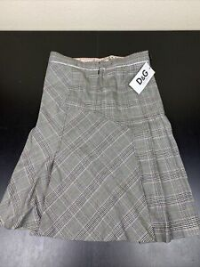 NWT- Dolce & Gabbana Women Plaid Skirt Size 40