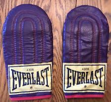 Vintage Everlast 4308 Speed Bag/Sparring Leather Gloves Metal Palm Grip Purple