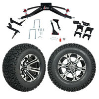 """GTW 6"""" Club Car Precedent Golf Cart Lift Kit With A/T Tires & 12"""" Wheels 2004-Up"""