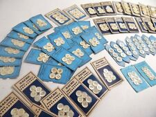 300+ Vintage French Mother-of-Pearl Buttons on Cards