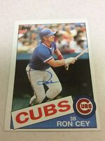 1985 Topps Chicago Cubs Ron Cey Autographed Baseball Card
