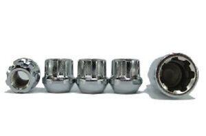 4 Pc LINCOLN CONTINENTAL OPEN LOCKING LUG NUTS CUSTOM WHEEL LOCKS 12x1.50 #41705