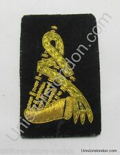 Badge Pipe and Drum Band Badge Gold on Black R1213