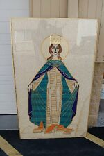 """+ Framed Banner """"SLABBINCK"""" Tapestry """"Mary Queen of the Universe"""" + chalice co.+"""