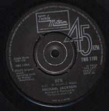 "MICHAEL JACKSON ben/MARVIN GAYE abraham martin and john TMG 1165 uk 7"" WS EX/"
