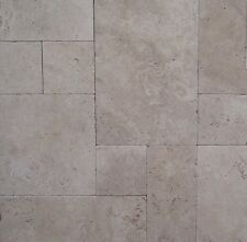 French Pattern Travertine Tumbled Pavers 13mm Thick Tile Premium Quality