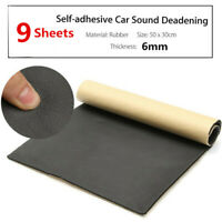 6MM 9 Sheet Car Sound Proofing Deadening Noise Insulation Closed Cell Foam Mat