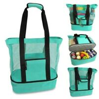 Portable Lunch Bags Insulated Canvas Box Tote Bag Multi-function Food Picnic Bag