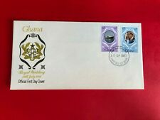 GHANA 1981 FDC PRINCE CHARLES PRINCESS DIANA WEDDING ROYALTY BOOKLET STAMPS