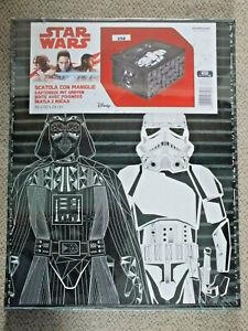 """""""Star Wars"""" Kartonbox mit Griffen """"Disney/Lucas/Cofresco"""" (neu/ungeöffnet)"""