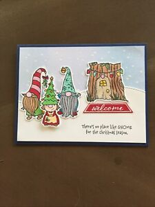 Stampin' Up Christmas Gnomes Card Kit-4 Cards