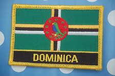 Dominica  Aufnäher Aufbügler Patch Schrift Flagge Memorabilia Sammeln & Seltenes