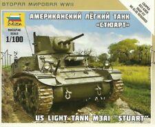 Zvezda 1/100 Escala Ww2 Allied Stuart Tanque Americano