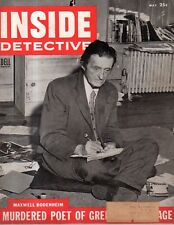 1954 Inside Detective May - Crimes in Jackson MI, Minden LA, Warren PA,Oak Ridge