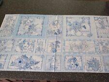 Flora Bleu Panel 23x43 Loralie Harris Quilting Treasure Picture Toss Ladies