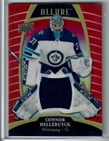 2020-21 Upper Deck ALLURE RED RAINBOW JERSEY CONNOR HELLBUYCK WINNIPEG JETS