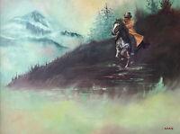 Original ARAS Painting Caballero Signed Framed