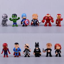 Marvel Avengers Toys Cake Toppers Action Figure Batman Ironman Hulk Superman