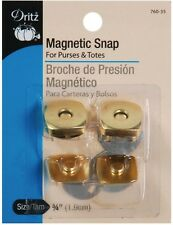 "Dritz Square Magnetic 3/4"" Snaps - 2 per Package - Gilt Color"