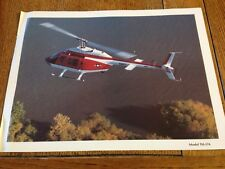 Vintage Bell Helicopter Print/Lithograph