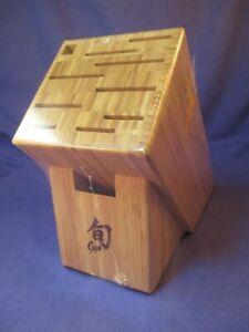 Shun 11 Slot Bamboo Knife Storage Block #1