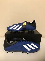 Adidas X 19.4 FXG Flexible Ground Blue/White Men Soccer Cleat - Multiple Sizes