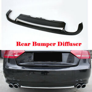 Rear Bumper Diffuser Silver Strip Spoiler Lip Factory Fit for Audi A5 2D  08-12