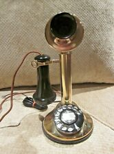 Automatic Electric BRASS Candlestick Telephone.