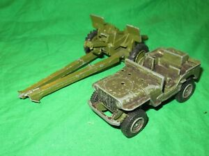 Dinky 616 US Jeep & 105mm gun incomplete for restoration