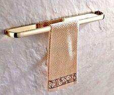 Luxury Gold Color Brass Wall Mounted Bathroom Double Towel Rail Bar Kba602
