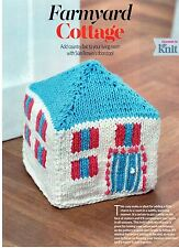 ~ Pull-Out Knitting Pattern For Charming Country Cottage Doorstop/Ornament ~