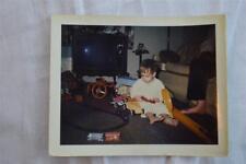 Vintage Polaroid Photo Boy w/ Toys Red Line Hot Wheels Cars Nylint T Hot Rod 851