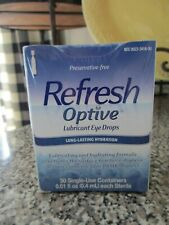 Refresh Optive Lubricant Eye Drops 30 Single Use Containers Exp 10/2020