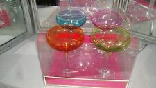 3f100295058560 SET OF 4 LILLY PULITZER FOR TARGET COCKTAIL MARGARITA GLASSES WITH GOLD RIM  NIB