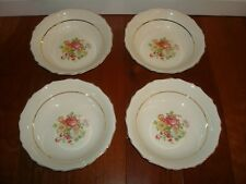 4 Canonsburg China Round Vegetable Bowl Vintage Retired Floral Rose Bouquet