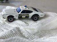 Vintage Mattel HOT WHEELS REDLINE White State Police Cruiser Olds 442 1969