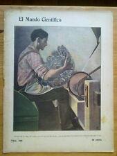 ANTIGUA REVISTA AÑO 1904 MUNDO CIENTIFICO,SORPRENDENTES NOTICIAS,PUBLICIDAD.240