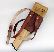 WWII GERMAN MAUSER C96 BROOMHANDLE LEATHER HOLSTER AND WOODEN STOCK-293