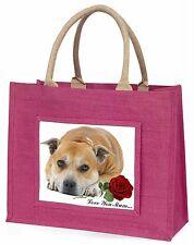 Red Staff Bull+Rose 'Love You Mum' Large Pink Shopping Bag Chris, AD-SBT3RlymBLP