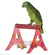 The Pedi  Percher Parrot Stand Portable Tabletop  Parrot Training Perch