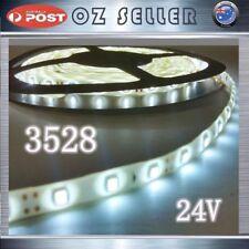 24V Waterproof Flexible 5M 3528 300SMD White LED SDtrip Light DRL 4X4 Boat Truck