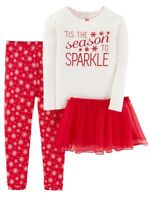 JUST ONE YOU BY CARTER'S 3pc Season To Sparkle Tutu Outfit 2T Christmas