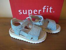 Girls SUPERFIT 213 Green/White SUEDE Hook/Loop SANDAL UK 7.5 Eur 25 NEW!